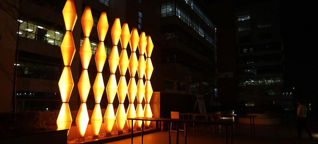 FRP Wall Sculpture at Oxygen Business Park, Noida